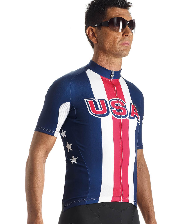 5ec67db0620 assos SS.Jersey USA Cycling Bike Jersey Shortsleeve Men red blue at ...
